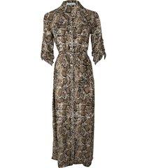 srndpty maxi dress celeste snake army groen