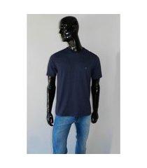 camiseta individual slim azul escuro tam. gg