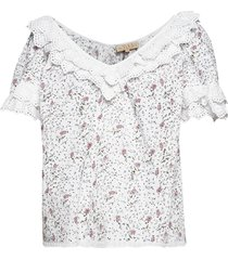 broderie anglaise top blouses short-sleeved wit by ti mo