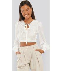 trendyol binding detailed blouse - white