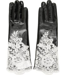 alessandra rich vinyl and lace gloves