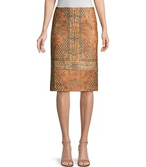 devon tapestry print pencil skirt
