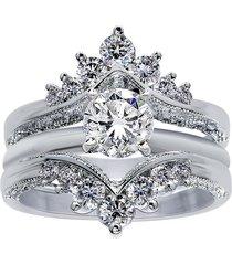 1.50 ct round diamond 14k white gold over enhancer wrap engagement ring