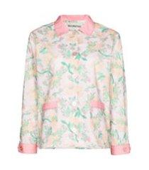 helmstedt camisa de pijama com estampa floral - rosa