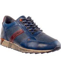 sneaker para hombre san polos jcr-3003 azul x miel