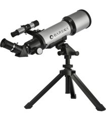 barska 300 power, 40070 starwatcher compact refractor telescope with table top tripod carrying case