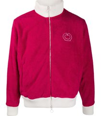 casablanca french terry towelling track sweatshirt - red