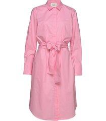 larkin ls midi shirt dress jurk knielengte roze second female