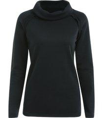 stylish long sleeve turtleneck solid color women's sweatshirt