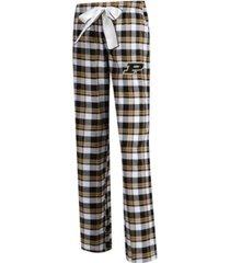 concepts sport women's purdue boilermakers piedmont flannel pajama pants
