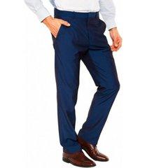 pantalón dressy liso azul perry ellis