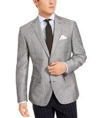 bar iii men's slim-fit gray textured sport coat, created for macy's