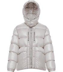 men's moncler genius x 6 1017 alyx 9sm forest water resistant down puffer coat, size 3 - metallic