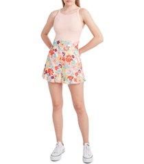 bcbgeneration floral-print ruffled-hem shorts