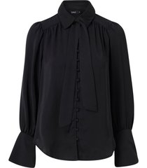 blus onlevelyn l/s bow tie shirt wvn