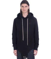 rick owens sweatshirt in black cotton