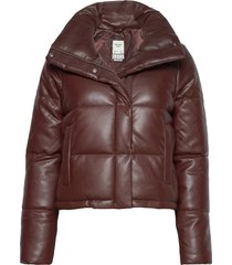 anf womens outerwear fodrad jacka brun abercrombie & fitch
