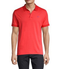 original penguin men's two-tone polo - flame scarlet - size xl