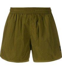 ami paris elastic waist swim shorts - green