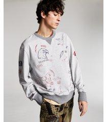 ouigi theodore for sun + stone men's graphic french terry sweatshirt