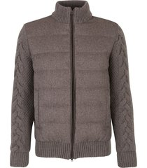 padded knitted jacket