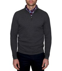 tailorbyrd men's big and tall popcorn textured quarter-zip sweater