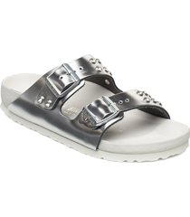 arizona diamond shoes summer shoes flat sandals silver birkenstock