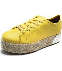 tenis amarillo-beige vizzano