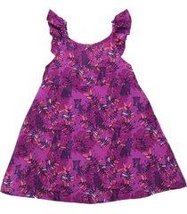 vestido manga corta violeta  offcorss