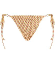 talise smocked printed bikini bottom