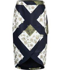 saphirr knälång kjol multi/mönstrad ted baker