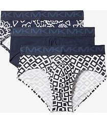 mk slip in cotone stretch 3 pezzi - notte (blu) - michael kors