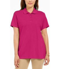karen scott petite cotton polo shirt, created for macy's