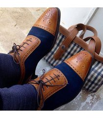 handmade men two tone brogue shoes, men lace up dress shoes, shoe maker
