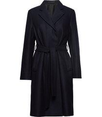 eden coat wollen jas lange jas blauw filippa k