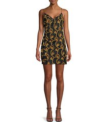 chainlink-print mini slip dress
