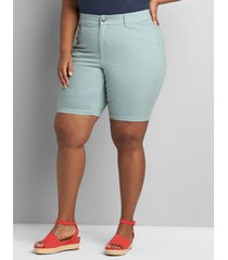 lane bryant women's curvy fit slim bermuda short 20 jadeite
