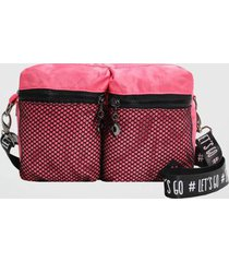 bolsa tiracolo back bag nylon lets go feminina