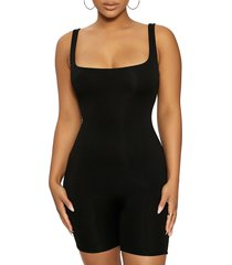 naked wardrobe sporty romper, size small in black at nordstrom
