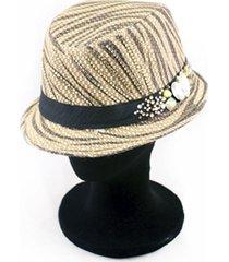 sombrero acebrado con stras almacen de paris