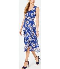jessica howard petite surplice floral wrap midi dress