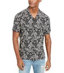sun + stone men's organic floral print short sleeve shirt, created for macy's