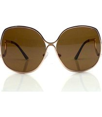 trendy 70's vintage large big oversized metal frame women fashion sunglasses