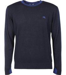 etro logo embroidered ribbed sweatshirt