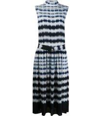 boon the shop tie-dye belted dress - blue
