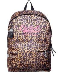 mochila bts leopard negro everlast