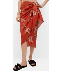 mango women's wrap print skirt