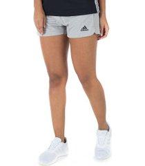 shorts adidas 2in1 soft - feminino - cinza/preto