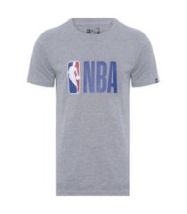 camiseta masculina básico essentials logo nba - cinza