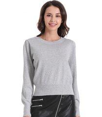 sweater con brillos gris nicopoly